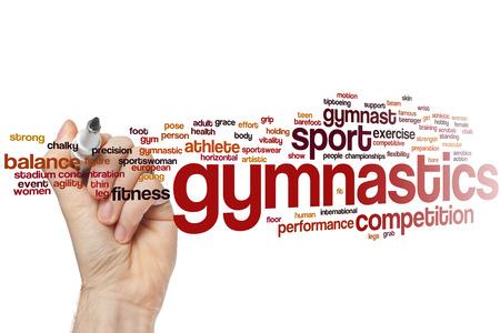 gimnasia: Gimnasia palabra concepto de nube