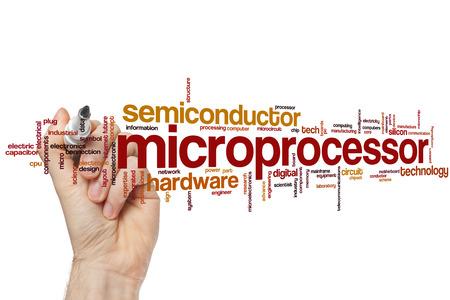 microprocessor: Microprocessor word cloud concept