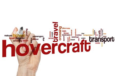 hovercraft: Hovercraft word cloud concept