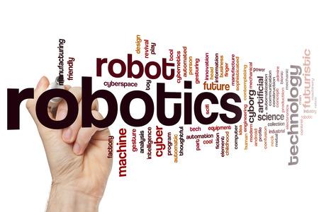 robotics: Robotics word cloud concept Stock Photo