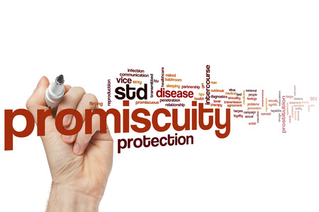 std: Promiscuity word cloud concept Stock Photo