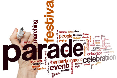 march band: Parade word cloud concept