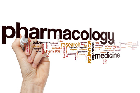 Pharmacology word cloud concept