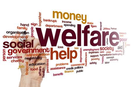 penniless: Welfare word cloud concept