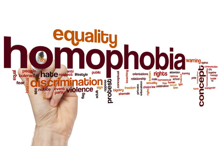 sex discrimination: Homophobia word cloud concept