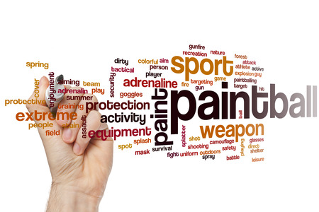 paintball: Paintball word cloud concept