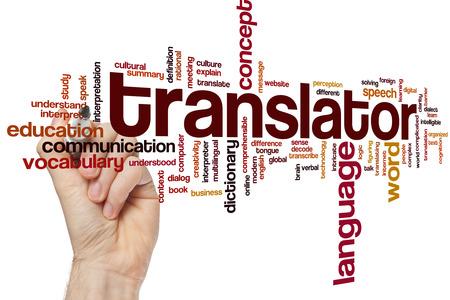 Translator word cloud concept Stock fotó