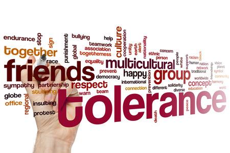tolerancia: Tolerancia concepto de nube de palabras