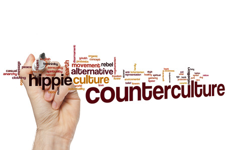 counterculture: Counterculture word cloud concept