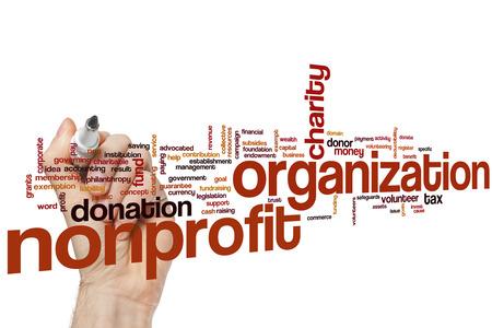 nonprofit: Nonprofit organization word cloud concept