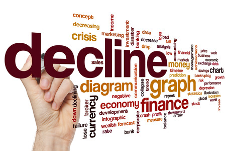 decline: Decline word cloud concept