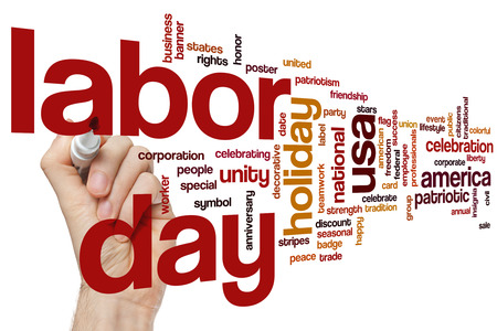 labor: Labor day word cloud concept