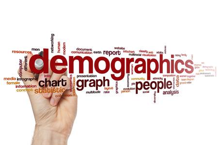 demographics: Demographics word cloud concept