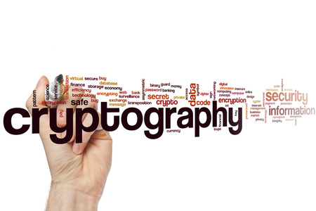cryptography: Cryptography word cloud concept
