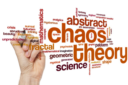 deterministic: Chaos theory word cloud concept
