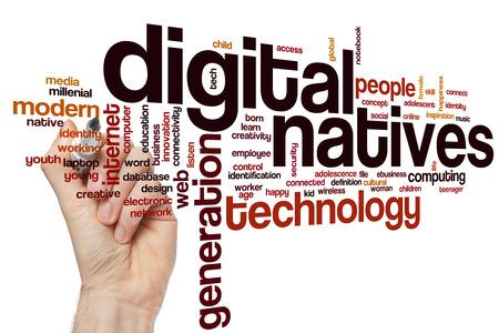 identidad cultural: Los nativos digitales concepto de nube de palabras