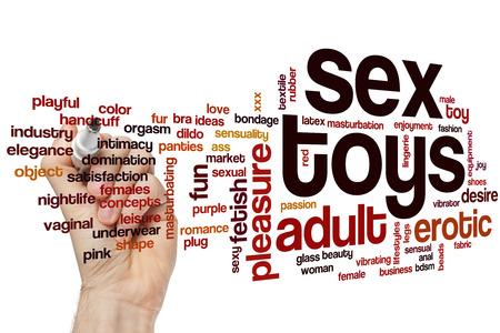 sexo: Juguetes sexuales concepto de nube de palabras Foto de archivo