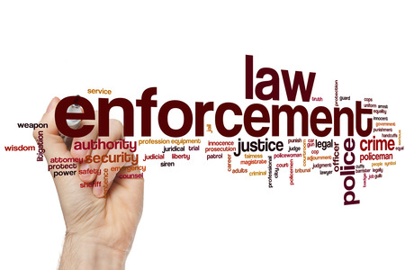 Law enforcement word cloud concept