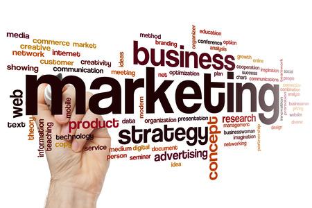 Marketing word cloud concept Фото со стока - 41633479