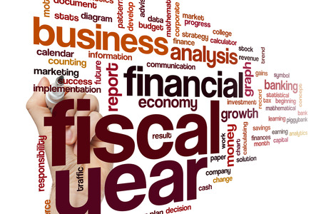 fiscal: Fiscal year word cloud concept