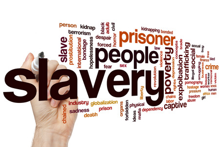 slavery: Slavery word cloud concept