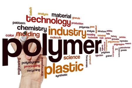 Polymer woord wolk concept Stockfoto