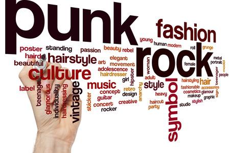 punk rock: Punk rock word cloud concept