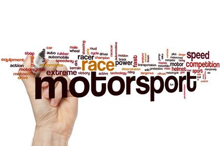 motorsport: Motorsport word cloud concept