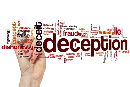 deceptive: Deception word cloud concept