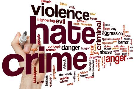 crime: Hate crime word cloud concept
