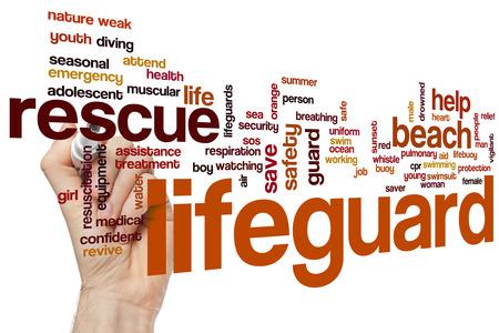 life guard: Life guard word cloud concept