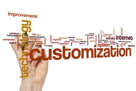 Customization word cloud concept