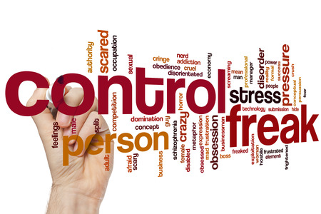 freaked: Control freak word cloud concept