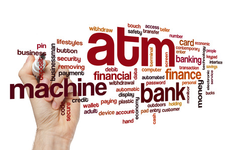 automatic transaction machine: ATM nube de palabras