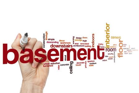 basement: Basement word cloud concept Stock Photo