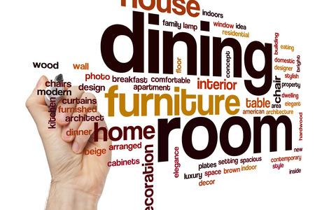 designer chair: Dining room word cloud concept
