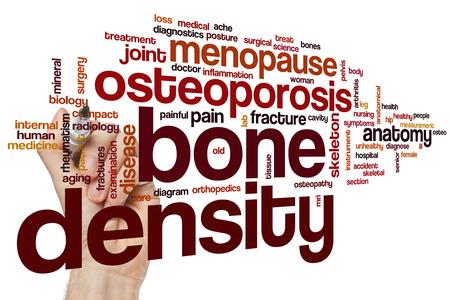 osteoporosis: Densidad �sea concepto de nube de palabras