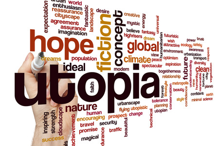 utopia: Utopia concept word cloud background