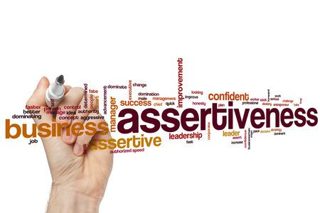 assert: Assertiveness word cloud concept