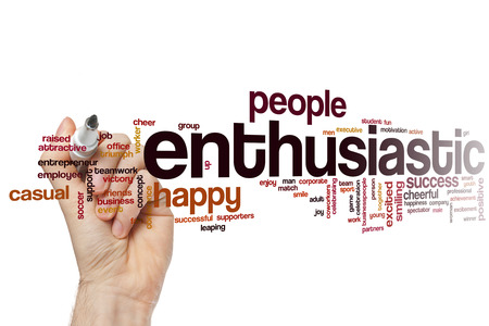Enthusiastic word cloud concept