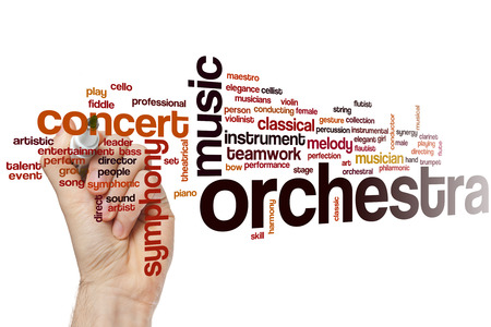 Orchestra word cloud concept