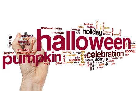 halloween concept: Halloween concept word cloud background