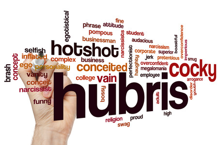 cocky: Hubris concept word cloud background