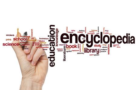 the encyclopedia: Encyclopedia word cloud concept
