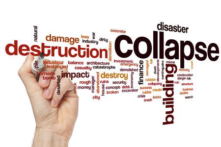 collapse: Collapse concepto de nube de palabras