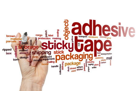 adhesive: Adhesive tape word cloud concept Stock Photo