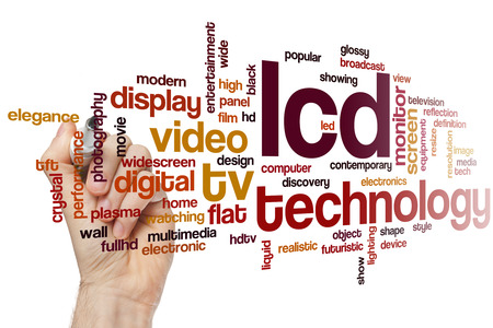 lcd: LCD word cloud concept