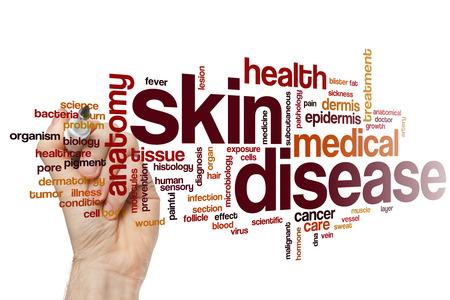 piel humana: Enfermedad de la piel concepto de nube de palabras