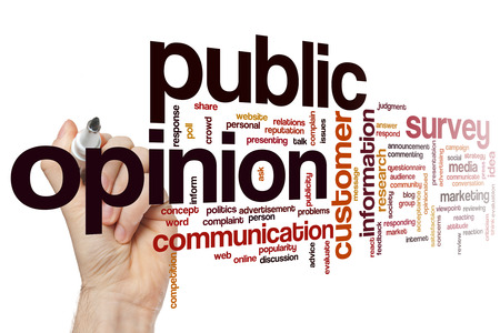 public opinion: Public opinion concept word cloud background