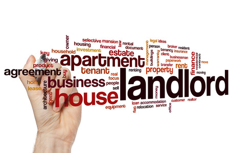 real estate agent: Landlord word cloud concept